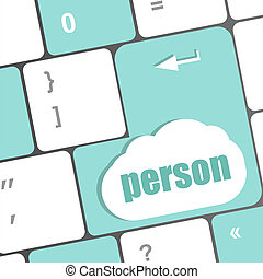 word person on computer keyboard key