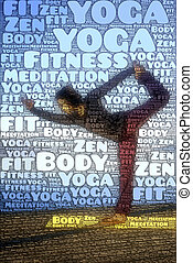 word picture yoga sports