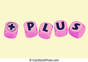 word PLUS on cubes