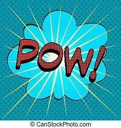word pow comic book style