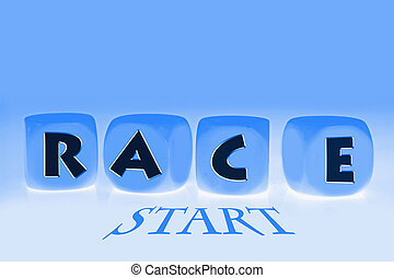 word race on cubes