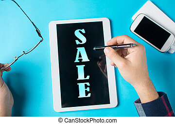 Word Sale on a tablet device