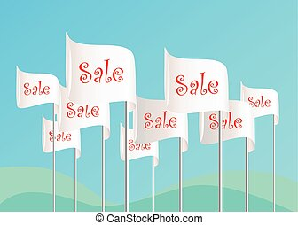 Word Sale on flags