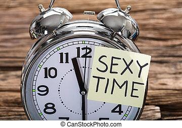 Erotic alarm clock