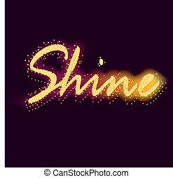 word shine