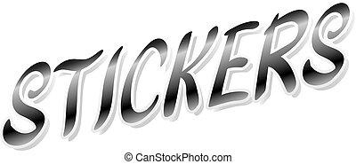 word sticker on white background vector