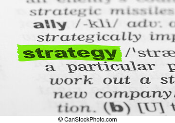 Word Strategy in Dictionary