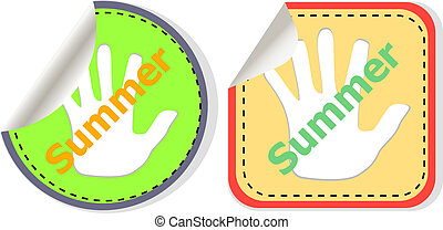 word summer web button isolated on white background, icon design