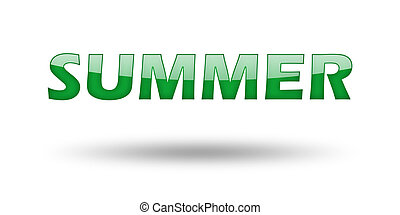 Word summer with green letters