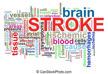 Word tags of brain stroke - Illustration of brain stroke...