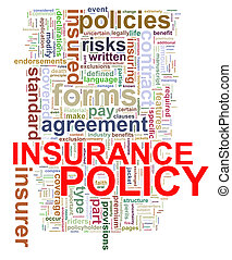 Word tags of insurance policy - Illustration of Wordcloud...