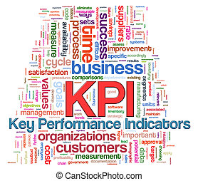 Word tags of kpi - key performance indicators - Illustration...