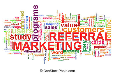 Word tags of referral marketing