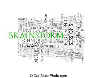 Word tags wordcloud of brainstorm