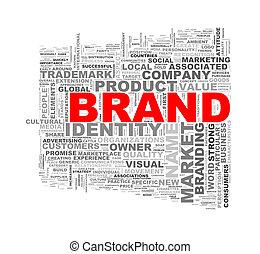 Word tags wordcloud of brand