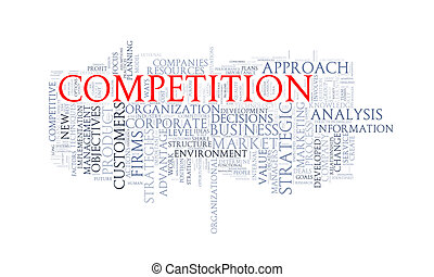 Word tags wordcloud of competition