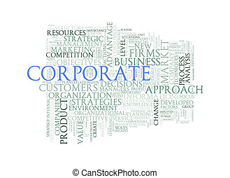 Word tags wordcloud of corporate