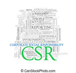 Word tags wordcloud of csr