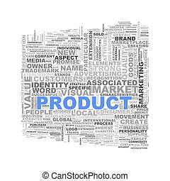 Word tags wordcloud of product