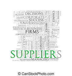 Word tags wordcloud of suppliers