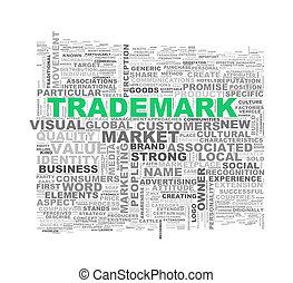 Word tags wordcloud of trademark