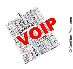 Word tags wordcloud of voip