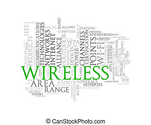 Word tags wordcloud of wireless