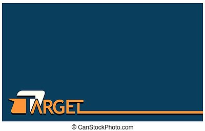 Word target background vector . Vector illustration on blue background