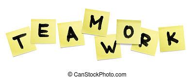 Word Teamwork - business concept.