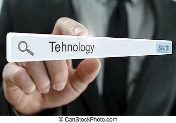 Word Technology written in search bar