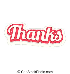 Word Text Thanks Vector Image