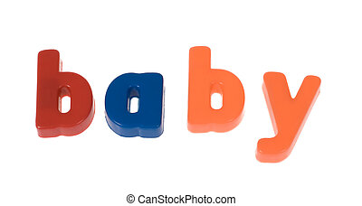 word the baby from blocks