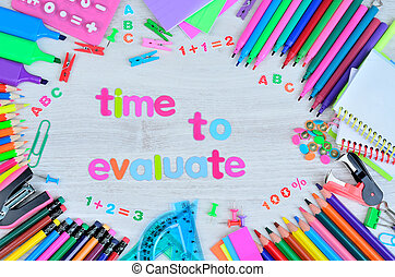 word time to evaluate on table