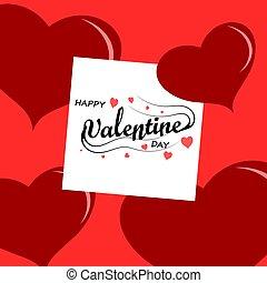 word Valentine day on white paper, love concept.