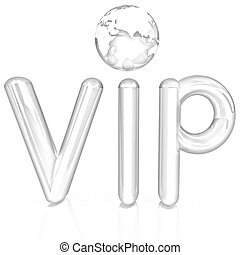 Word VIP with 3D globe