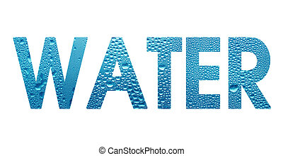 word Water on white background