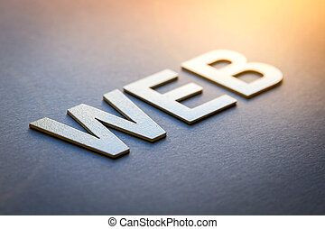 Word web written with white solid letters