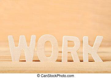 Word work wooden.