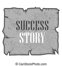 Word, writing Success Story. Vector illustration concept for inspiration motivation written
