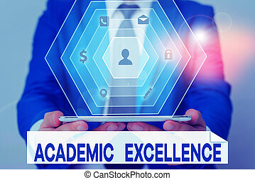 Word writing text Academic Excellence. Business concept for ...