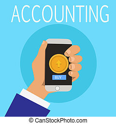 Word writing text Accounting. Business concept for Process Work of keeping and analyzing financial accounts