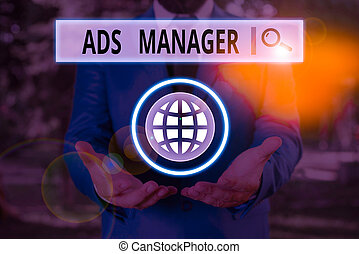 Word writing text Ads Analysisager. Business concept for ...
