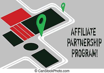 Word writing text Affiliate Partnership Program. Business...