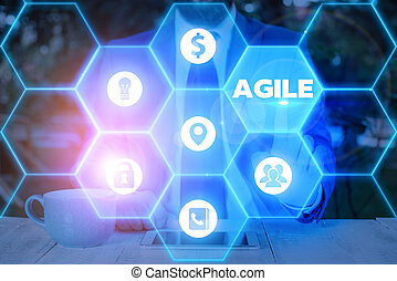 Word writing text Agile. Business concept for particular approach to project management that is utilized in software.