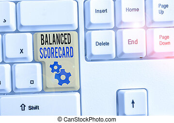 Word writing text Balanced Scorecard. Business concept for a...