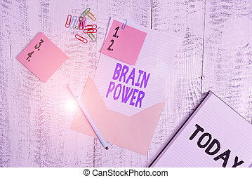 Word writing text Brain Power. Business concept for Ability ...