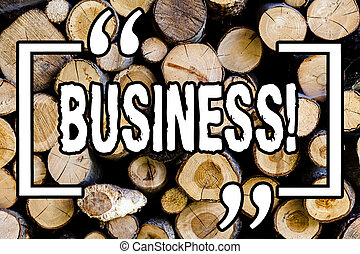 Word writing text Business. Business concept for Online Marketing and sales stagedy for new industial projects Wooden background vintage wood wild message ideas intentions thoughts.