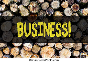 Word writing text Business. Business concept for Trade Work Specialty Corporate Occupation Entrepreneur Company Wooden background vintage wood wild message ideas intentions thoughts.