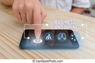 Word writing text Business Consulting. Business concept for ...