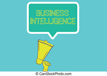 Word writing text Business Intelligence. Business concept ...